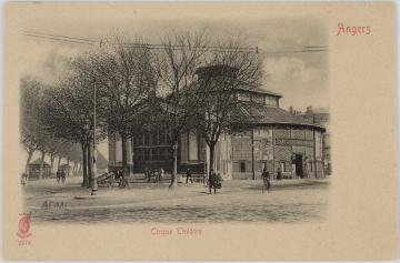 Carte postale : cirque-Théâtre d'Angers, place Molière.