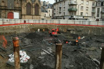 Fouille de la place Saint-Germain : les archéologues reconstituent l'histoire d'un quartier rennais du Moyen Âge à nos jours