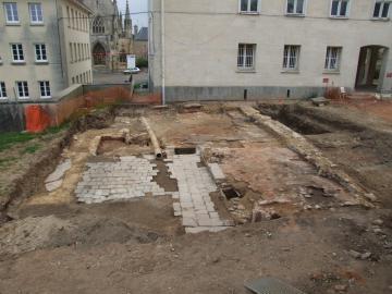 Découvertes archéologiques à Falaise : au coeur des bombardements de 1944