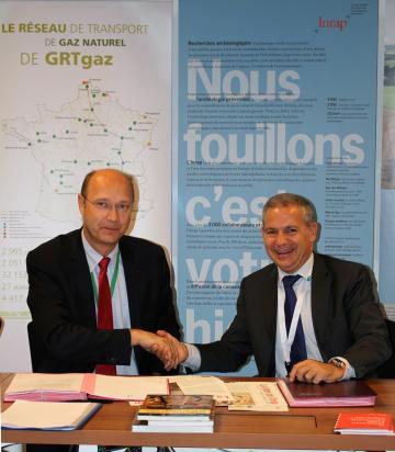Projet Val de Saône : convention entre GRTgaz et l'Inrap
