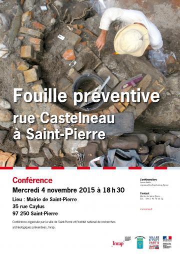 Fouille archéologique rue Castelneau à Saint-Pierre, Martinique