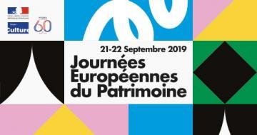 Logo Journée européenne du patrimoine 2019