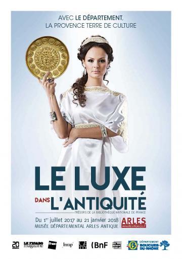 Affiche expo Le luxe dans l'Antiquité