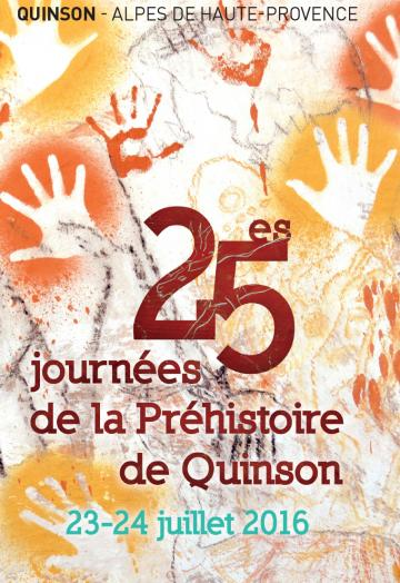 Affiche 25es Journées de la Préhistoire de Quinson, 2016