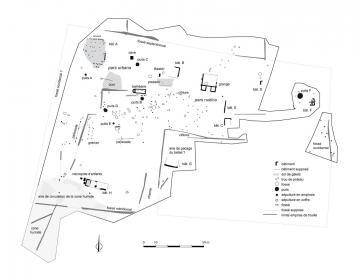 Plan d'ensemble du domaine rural agricole antique