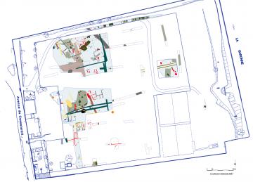 Plan général des structures mises au jour par les fouilles archéologiques