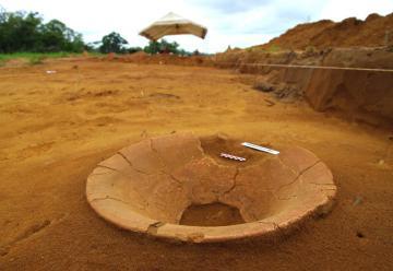 Découverte d'un site amérindien en Guyane française