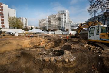 Fouille précédant les travaux de Grand Paris express à Vitry-sur-Seine