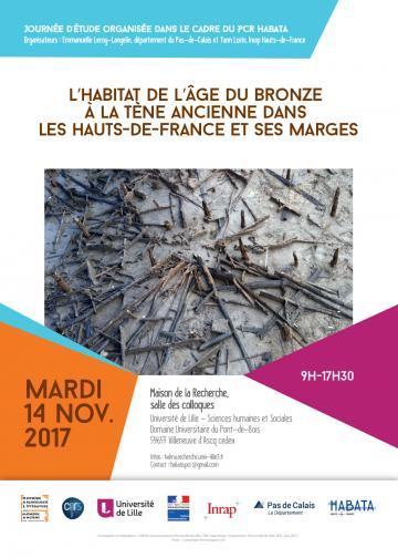Affiche journée d'étude - L'habitat de l'âge du Bronze à La Tène ancienne dans les Hauts-de-France et ses marges