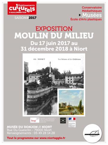 Affiche de l'exposition « Moulin du milieu »