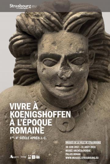Affiche exposition - Vivre à Koenigshoffen à l'époque romaine