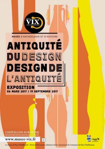 Affiche exposition Antiquité du design, Design de l'Antiquité