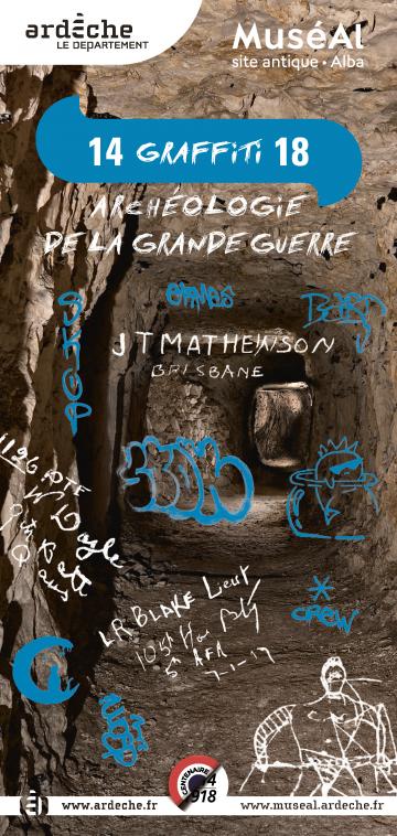 Affiche 14 GRAFFITI 18 : archéologie de la grande guerre