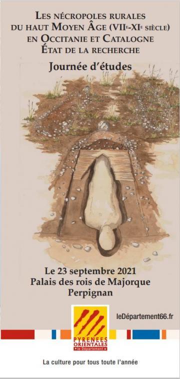Affiche nécropoles rurales du haut Moyen Age