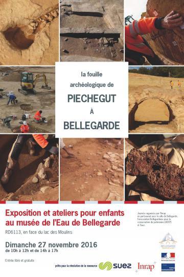 Affiche La fouille archéologique de Piechegut à Bellegarde, 2016