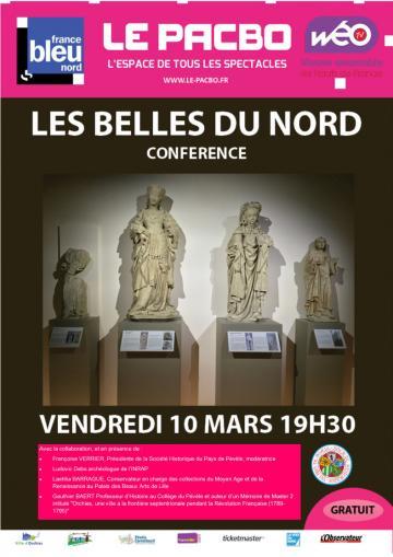 Affiche conférence Les Belles du Nord,
