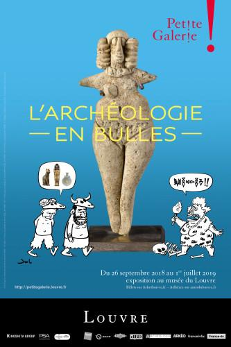 Affiche exposition Archéologie en bulles