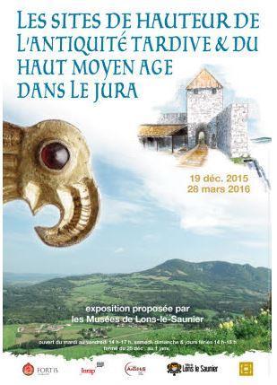 Affiche expo Les sites de hauteur Jura