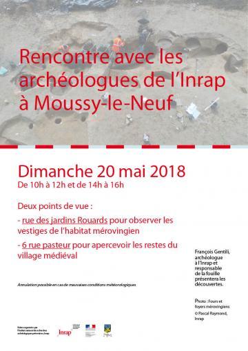Rencontre avec les archéologues de l'Inrap à Moussy-le-Neuf