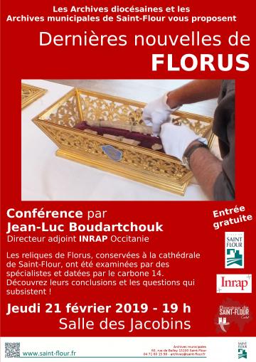 Affiche conférence de Florus