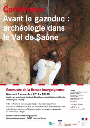 Affiche conférence gazoduc Val de Saône
