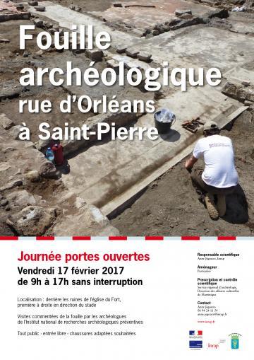 Affiche JPO Saint-Pierre, Martinique 2017