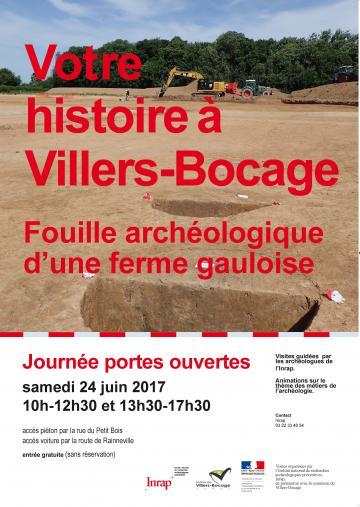 Affiche JPO Villers-Bocage, 2017