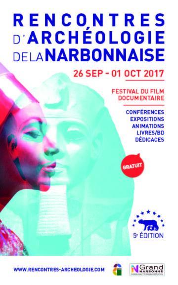 Affiche Rencontres d'archéologie de la Narbonnaise 2017