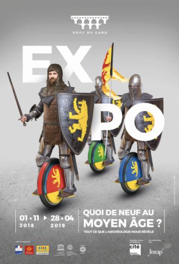 """Affiche """"Quoi de neuf au Moyen Âge"""" au Pont du Gard"""