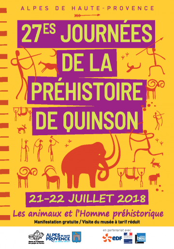 Affiche des 27es Journées de la Préhistoire de Quison