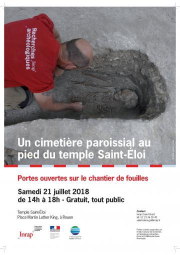 JPO chantier de fouille à Rouen, temple Saint-Eloi