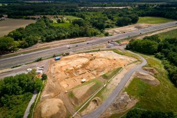 Vue aérienne du site de Saint-Geours-de-Maremne Bellocq