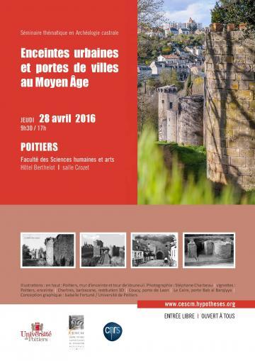 Affiche Séminaire Enceintes urbaines et portes de villes au Moyen Âge, 2016