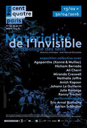 Affiche exposition Matérialité de l'Invisible, l'archéologie des sens