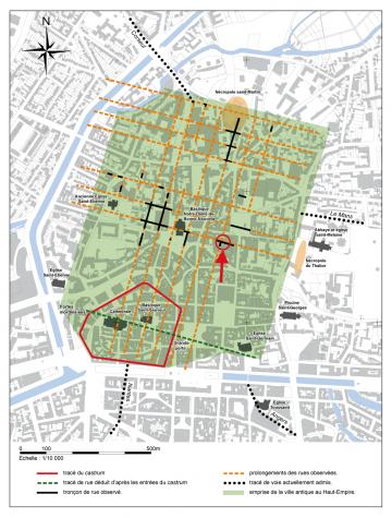 Plan de la ville de Rennes antique