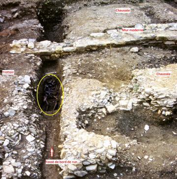 Vue de la chaussée du decumanus
