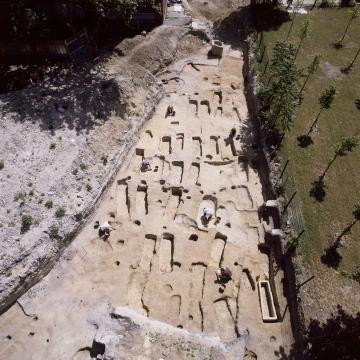 Vue de la partie nord de la nécropole gallo-romaine de Bondy.