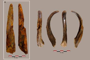 Découverte d'un outillage fabriqué par des Néandertaliens à Aranbaltza-Bizkaia © Joseba Rios-Garaizar