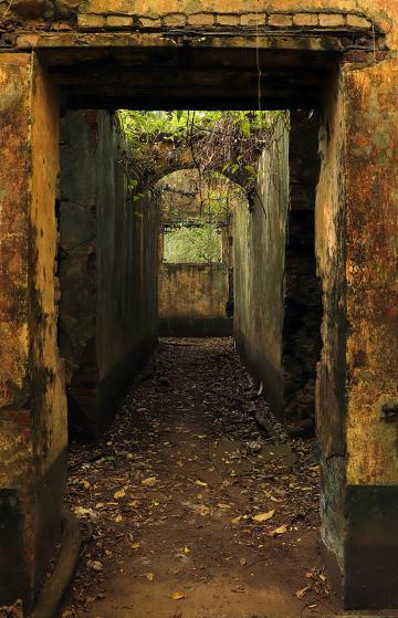 Corridor donnant accès au troisième bloc de cellules construit à partir de 1913.