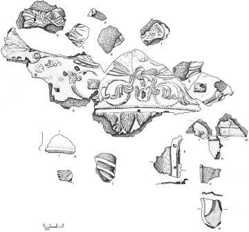 Fragments conservés du casque de cavalerie