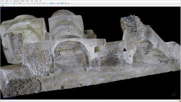 Fig.10. Le modèle d'une cave à Meaux. Les photos ont été réalisées à l'aide d'un éclairage homogène de type ballon.