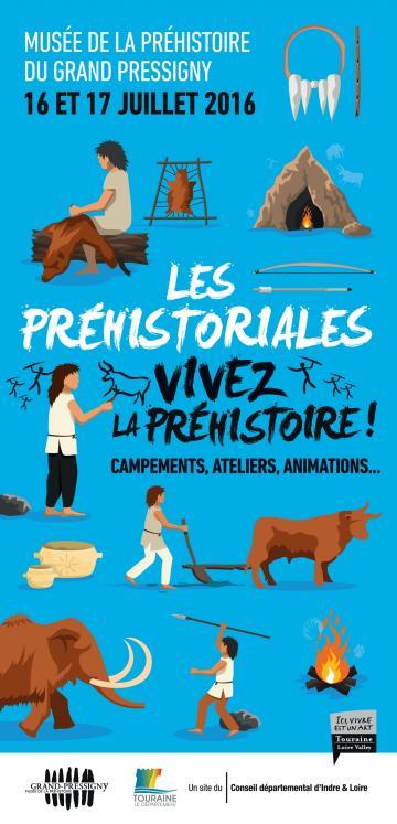 Affiche Les Préhistoriales, musée du Grand-Pressigny, 2016