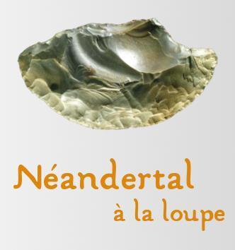 Affiche Exposition Néandertal à la loupe