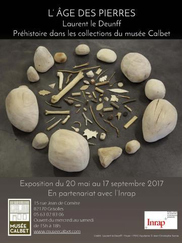 Affiche expo l'age des pierres