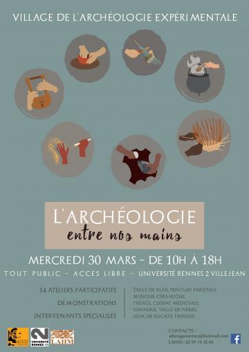 Affiche L'archeologie entre nos mains, Rennes