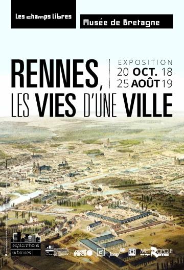 """Affiche de l'exposition """"Rennes, les vies d'une ville"""""""