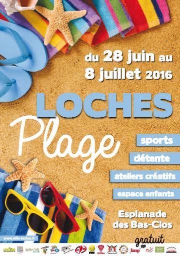 Affiche Loches Plage 2016