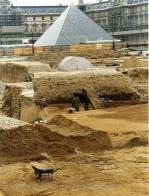 Vue des fouilles archéologiques du Grand Louvre