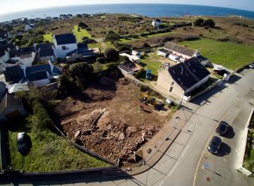 Vue aérienne du site de Manémeur à Quiberon