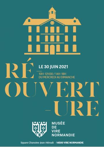 Affiche musée de vire réouverture